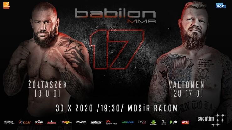Babilon MMA 17: Ceremonia ważenia. Transmisja na Polsatsport.pl i w Polsacie Sport News