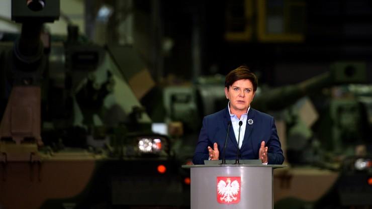 Szydło: polskie zakłady zbrojeniowe podstawą dostaw dla polskiej armii