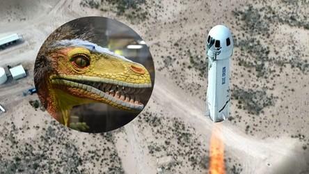 Kości dinozaura poleciały w przestrzeń kosmiczną jak Roadster od Tesli