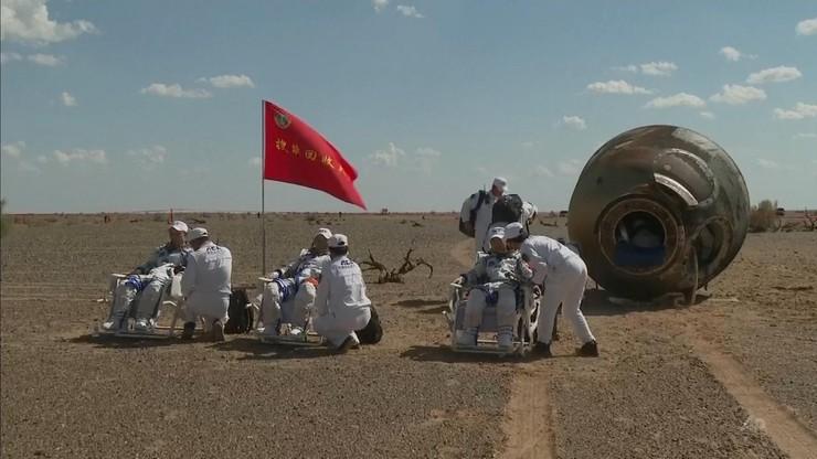 Chiny. Astronauci zakończyli najdłuższy pobyt w kosmosie w historii kraju. Byli w przestrzeni 90 dni
