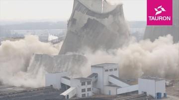 Tauron wyburzył gigantyczną chłodnię kominową. Runęła w 3,5 sekundy