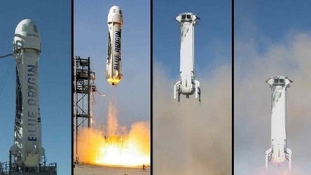 Zobacz pomyślny lot w kosmos szefa Amazonu w kapsule od Blue Origin [WIDEO]