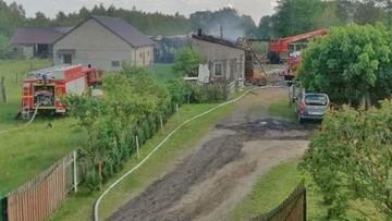 Pożar we wsi na Mazowszu. Płonęły zabudowania gospodarzy