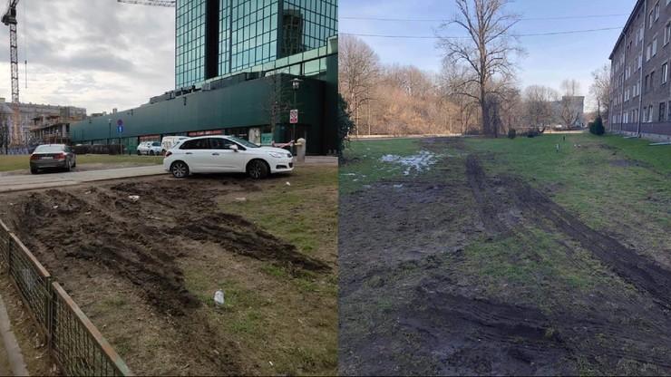 """""""Patoparkowanie w stolicy"""". Stowarzyszenie walczy z dewastacją trawników"""