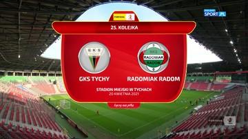 GKS Tychy - Radomiak Radom 1:0. Skrót meczu