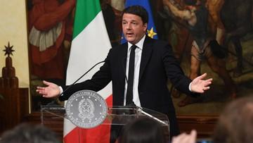 Premier Włoch poda się do dymisji