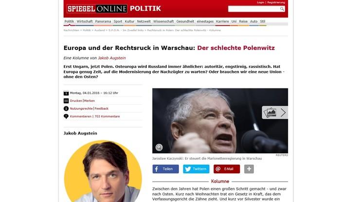 """""""Spiegel Online"""": Polska pod rządami PiS coraz bardziej przypomina putinowską Rosję"""