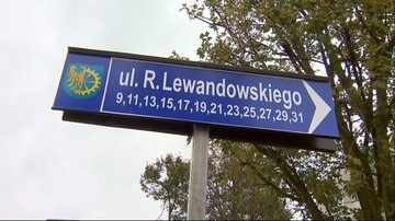 Mistrzowski adres. Otwarto pierwszą w Polsce ulicę Roberta Lewandowskiego