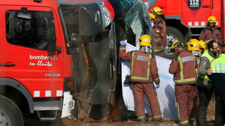 Polak wśród rannych w wypadku autokaru ze studentami w Hiszpanii