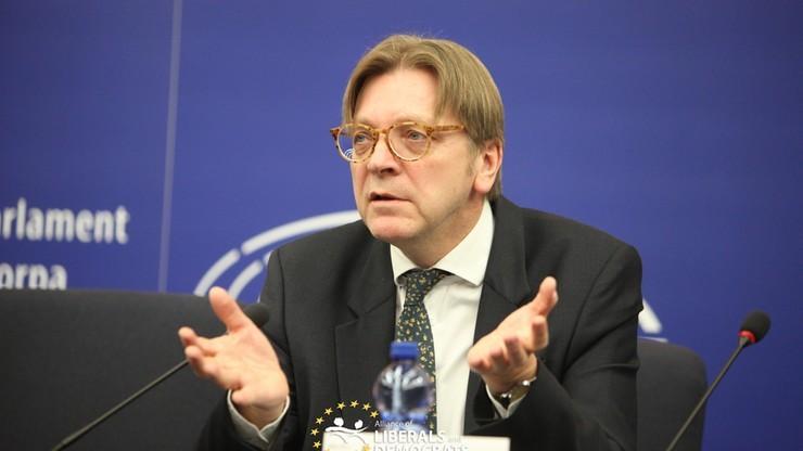 Verhofstadt: byłoby niewyobrażalne, gdyby przywódcy NATO dalej rozważali udział w szczycie w Warszawie