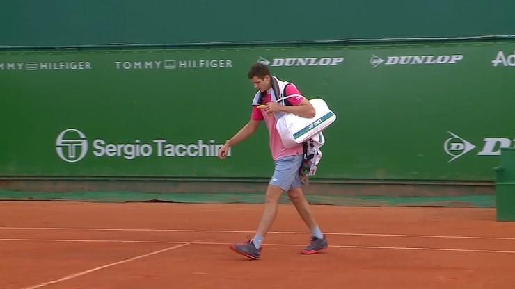 ATP w Monte Carlo: Mecz Huberta Hurkacza przerwany z powodu deszczu