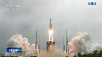 Części chińskiej rakiety spadły na Ziemię