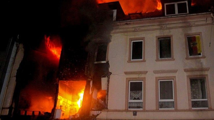 Pół kamienicy legło w gruzach po eksplozji na zachodzie Niemiec