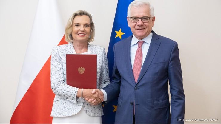 Szef MSZ wręczył Annie Marii Anders nominację na stanowisko ambasadora Polski we Włoszech