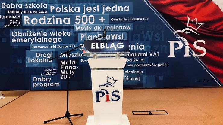 Spotkanie wyborcze PiS z udziałem Jarosława Kaczyńskiego w Elblągu