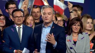 Biedroń: daliśmy radę. Jesteśmy trzecią siłą polityczną w Polsce