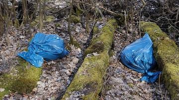 Wyrzucił śmieci do lasu. Dostał mandat, ale i tak zyskał na wizycie policjantów