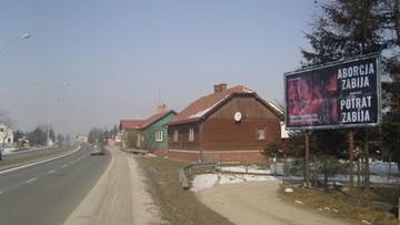 Antyaborcyjne billboardy na ulicach Krosna. Kampania skierowana także do Słowaków