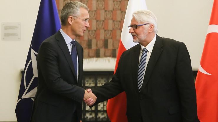 W MSZ spotkanie szefa NATO z ministrami spraw zagranicznych Polski, Rumunii i Turcji