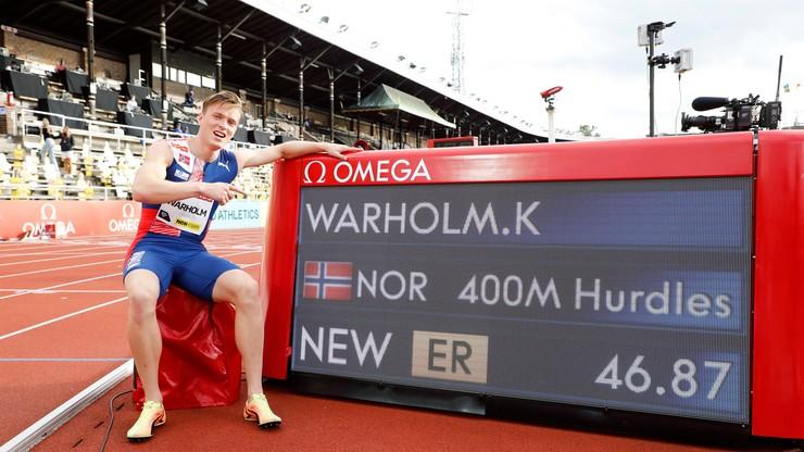 Karsten Warholm zaatakuje rekord świata w Ostrawie
