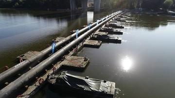 Most pontonowy na Wiśle. Rozpoczęto ponowny montaż