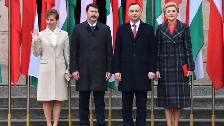 Prezydent Węgier Janos Ader odznaczony Orderem Orła Białego