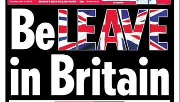 """Dziennik """"The Sun"""" opowiedział się za Brexitem"""