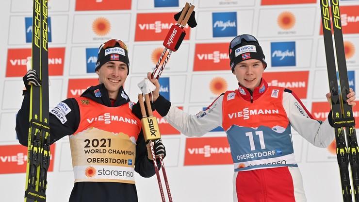 MŚ Oberstdorf 2021: Jarl Magnus Riiber ze złotym medalem w kombinacji norweskiej