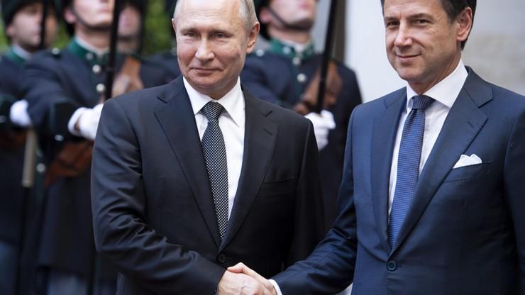 """""""Działamy na rzecz zniesienia sankcji wobec Rosji"""". Premier Włoch po spotkaniu z Putinem"""