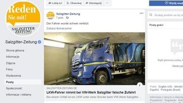 Polski tir zakleszczył się pod wiaduktem w Salzgitter. Kierowca jest ciężko ranny