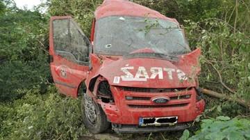 Tragiczny wypadek strażaków. Jeden nie żyje, czterech innych poważnie rannych