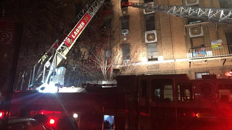 Pożar budynku mieszkalnego w Nowym Jorku. Co najmniej 12 ofiar