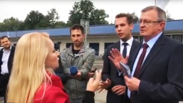 """Kandydatka KO przerwała briefing Cymańskiego i Kanthaka. """"Puławy stały się dojną krową"""""""