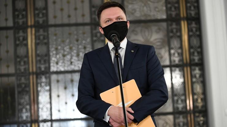 """Hołownia o budowaniu koła w Sejmie. """"Zeszło mi ciśnienie"""""""