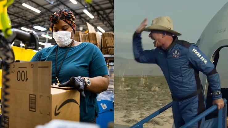 """Jeff Bezos podziękował pracownikom, że """"zapłacili"""" za jego lot w kosmos"""