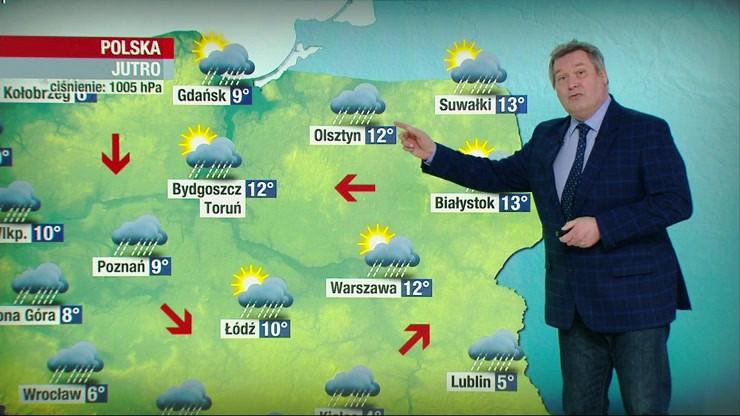 Prognoza pogody - piątek, 16 kwietnia - popołudnie