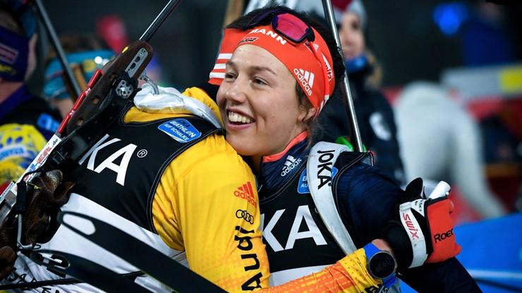 Triumf Norwegów w pokazowych zawodach biathlonowych, pożegnanie Dahlmeier