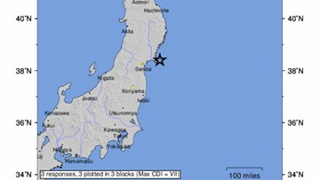 Trzęsienie ziemi w Japonii. Ostrzeżenie przed tsunami