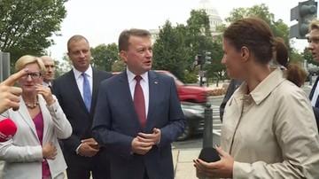 Błaszczak: nie padły kwoty dotyczące polskiego udziału w kosztach utrzymania stałych baz USA