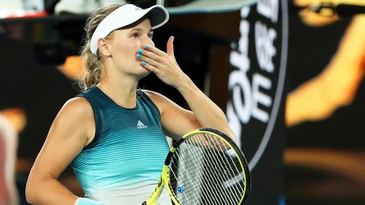 WTA w Charleston: Woźniacka pierwszą finalistką