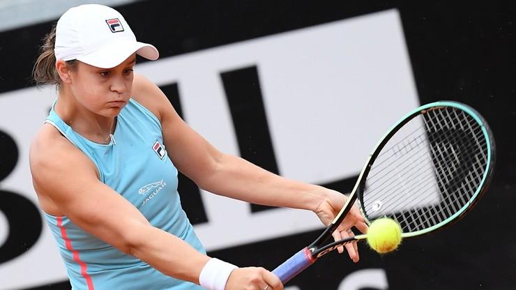 WTA w Rzymie: Kontuzjowana Ashleigh Barty skreczowała w ćwierćfinale