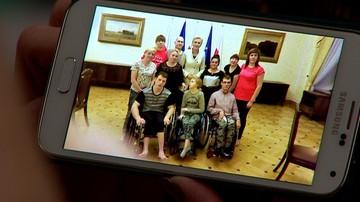Pierwsza dama spotkała się z protestującymi w Sejmie