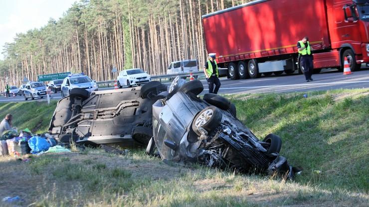 Wypadek na S3. Dziewięć osób rannych. Na miejscu śmigłowiec LPR