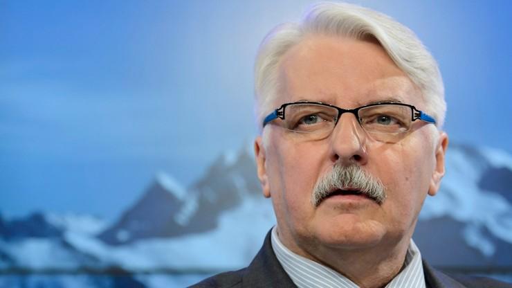 Waszczykowski: UE wdała się w bezsensowny konflikt z Polską