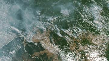 Gigantyczne pożary w Amazonii widoczne z kosmosu. Prezydent Brazylii oskarża organizacje pozarządowe