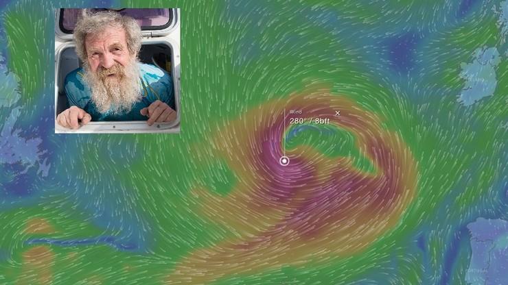 """Ogromny sztorm na trasie kajaka Aleksandra Doby. Na Atlantyku będzie """"10"""" w skali Beauforta. Nadejdzie w poniedziałek"""