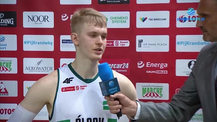 Łukasz Kolenda po meczu Śląsk Wrocław – Anwil Włocławek