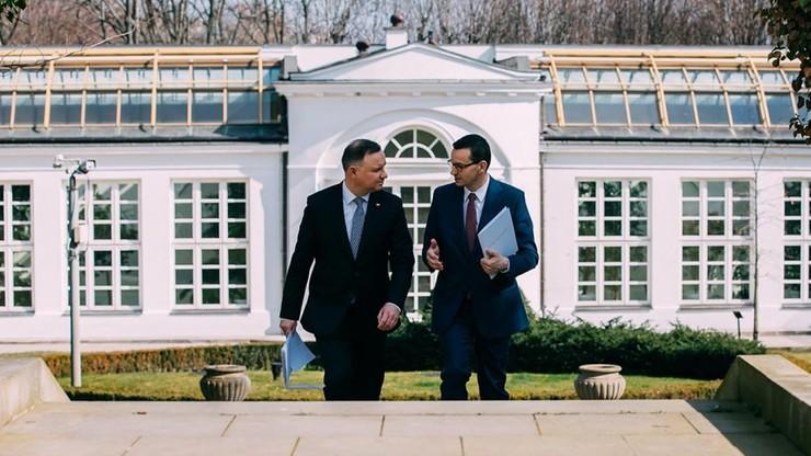 Nagłe spotkanie prezydenta z premierem. Jest wniosek o wotum zaufania dla Morawieckiego