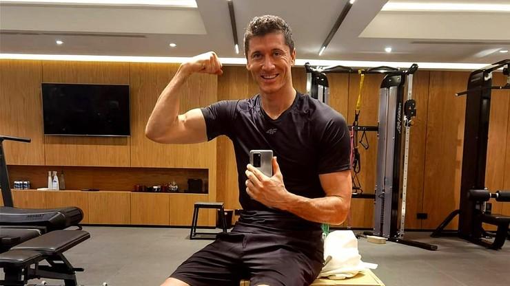 Robert Lewandowski nowy rok rozpoczął od treningu na siłowni (ZDJĘCIE)