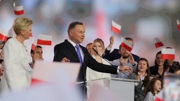 """""""Niech żyje Polska"""". Andrzej Duda po ogłoszeniu wyników"""